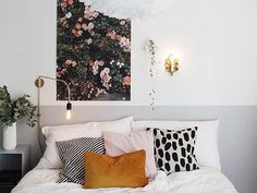 Designlovefest Painted Headboard