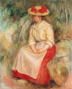 Pierre-Auguste Renoir - Gabrielle In A Straw Hat