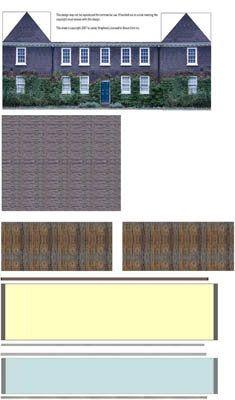 printable 1:144 scale 1700's dollhouse(tiny dollhouse for your dollhouse)