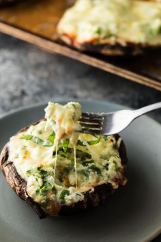 These lasagna stuffed portobello mushrooms can be prepped ahead and frozen. When you're ready to serve, you can bake them up completely frozen!