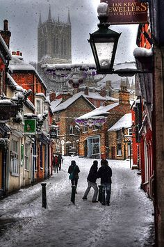 A Winter Scene - Lincolnshire, UK  ( by KChisnall on RedBubble )