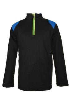 Asics Boys 1/4 Zip Pullover Athletic Jacket Youth Long Sleeve Coat Top Black New #BasicJacket #Dressy