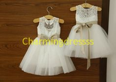 Aline girlHOT fleur en Organza bretelles dentelle Tulle robe mariage princesse bébé anniversaire robe avec fleur Sash Bow Custom Color & tai...