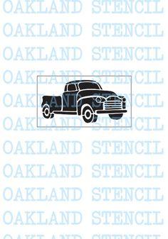 Type 18 Car Lorry Van Vehicle scrapbook design plastic drawing stencil template