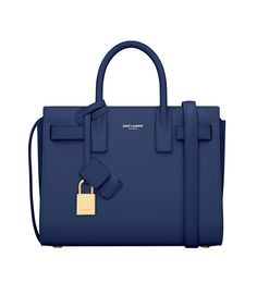 """I buy one major bag a year and I've had my eyes on the Sac De Jour for quite some time. While I doubt it'll go on sale, I'm still crossing my fingers and praying that it will!"" Saint Laurent classic nano Sac De Jour bag in blue leather, $1,990 ysl.com - Photo: Courtesy of YSL"