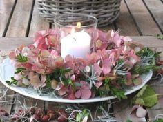 centro de mesa de flores frescas