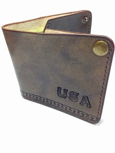 Bags purses wallets money clips wallets PERSONALIZED Flip Top Wallet ultra slim leather wallet thin leather wallet personalized wallet