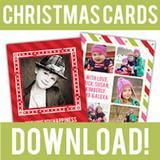 free Christmas photo cards photoshop template
