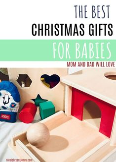 These gift ideas for babies will make mom and dad happy while stimulating baby's brain development. The gifts listed on this guide are baby and parent approved. Give the best Christmas gift this Christmas that baby will actually play with! Mom Hacks, Baby Hacks, Baby Tylenol, Shape Puzzles, Stacking Toys, Baby Christmas Gifts, How To Make Toys, Baby Must Haves, Newborn Care