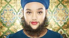 Young woman with full beard - she's stunning 😊. Body confidence campaigner Harnnam Kaur suffers with PCOS.