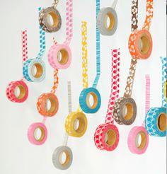 Lotta Jansdotter's new Washi Tape. Giveaway on the Sweet Paul blog now. I loooove that orange roll.