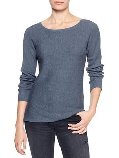 Factory textural stripe sweater
