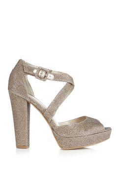 Glitter Platform Sandal   Luxury Women's promo   Karen Millen