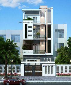 Mẫu nhà phố hiện đại 4 tầng https://congtythietkexaydunghaiphong.wordpress.com/