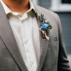 boutonniere   photo by  @mpantel   #boutonniere #winnipeg #florist #weddingflowers #flowersforfellows (at Winnipeg, Manitoba)