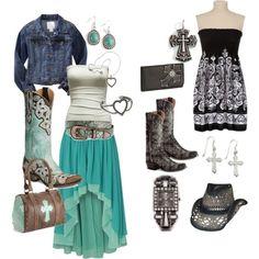 cowgirl, created by realtreegirl1 on Polyvore. Looooove loveeee loveee