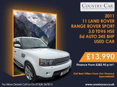 Country Car is the best place to track down great deals on used Land Rover models for sale in Warwick. Land Rover Car, Land Rover Models, Used Land Rover, Models For Sale, Cars For Sale, Range Rover Sport, Amazing Cars, Supercar, Used Cars