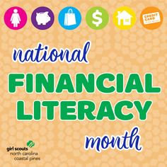 April is National Financial Literacy Month! Money management skills will help your Girl Scout throughout her whole lifetime, so check out our tips on learning how to be smart with money: North Carolina, National Months, How To Be Smart, Birds That Cannot Fly, Girl Scouts Usa, Financial Literacy, Money Management, Way To Make Money, Teaching Kids