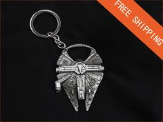 This ITem is in USA - Same Day Shipping - 2 Days Delivery.    NEW High Quality Millennium Falcon Metal Alloy Bottle Opener & Keychain -- BRAND NEW        - Millennium Falcon Metal Bottle Opener.    - Nice gifts for fans    -Brand new and high quantity    - Great Design and it works perfectly    - This cool novelty keychain would make an awesome gift for any fan. Lightweight, fun and a stylish attachment to your valuables.    - You too can be part of the story adventure wielding your very…