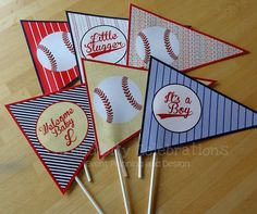 vintage baby shower centerpieces and decorations | ... Decorations, Pennant Centerpieces, Triangle -Baby shower -Birthday