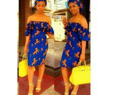 Robe chemise africaine. Robe chemise Ankara par TrueFond sur Etsy
