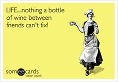 LIFE....nothing a bottle of wine between friends can't fix!