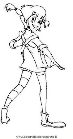 free printable coloring image Pippi