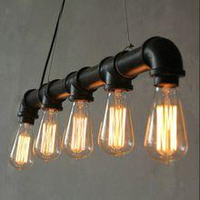 Edison Spersonalizowane Vintage Loft Przemysłowe Koła Pasowego Wodociąg Wisiorek Światła Lampy Wiszące na Magazynie 5 sztuk E27 Żarówki(China (Mainland))