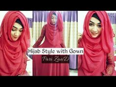 Hijab Style with Gown Covering chest | Pari ZaaD - YouTube