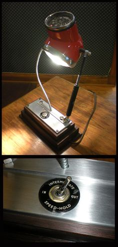 Cafe racer desk lamp