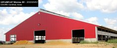 120'x288'x15' Cleary Dairy & Livestock Building in Monroe, WI | Colors: Cardinal, Snow,