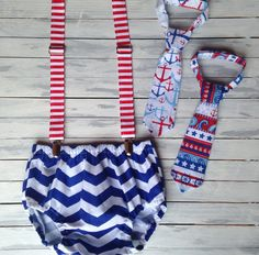 July 4th Baby Boy Nautical Cake Smash Outfit by WillowRayneDesigns