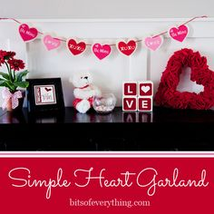 Bits of Everything: Valentine Craft – Heart Garland