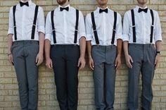 Wedding suspenders for men