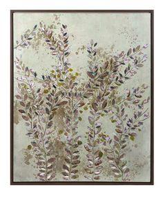 Adorable Botanical Wisdom Framed Oil Painting