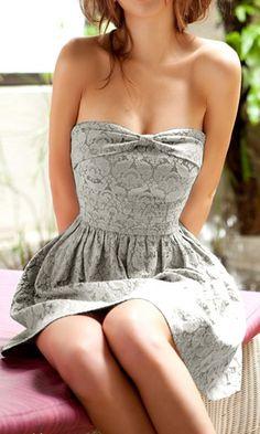 beautiful grey lace dress!