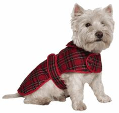 Ancol Muddy Paws Dog Coat in Red Tartan