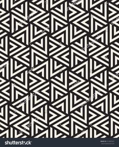Vector seamless pattern. Modern stylish texture. Repeating geometric tiles with striped triangles. Hipster monochrome print. Trendy graphic design.