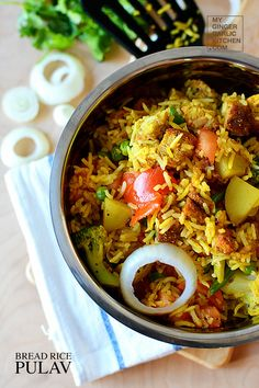 EXPRESS BREAD RICE PULAV [RECIPE]