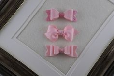 Baby Bows, Baby Hair Bows, Small Bow, Baby Hair Clips, Toddler Barrettes, Toddler Hair Clips, Baby Barrettes, Small Infant Bows, Small Bows by LittleSunshineByDi on Etsy Toddler Hair Clips, Baby Hair Clips, Baby Hair Bows, Fine Hair, Grosgrain Ribbon, Pink Color, Wool Felt, Baby Girls, Infant