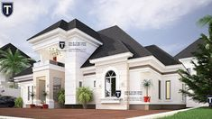 If you love spaciousness and modern living, here is a contemporary 5 bedroom plan that an established family will find a. House Plans Mansion, Family House Plans, Dream House Plans, Modern Architecture House, Concept Architecture, Architecture Design, Architecture Portfolio, Bungalow House Design, House Front Design