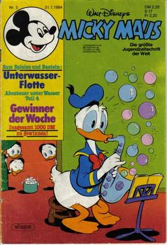 A cover gallery for the comic book Micky Maus Donald Sterling, Scrooge Mcduck, I Remember When, Vintage Comics, Vintage Disney, Disney Stuff, Donald Duck, Comic Book, Hong Kong