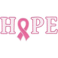 Pink Ribbons breast cancer awareness embroidery designs