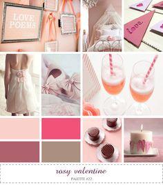 inspiration board - rosy valentine #pink #mauve #tan