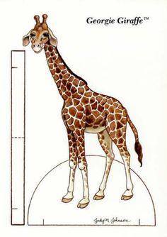 giraffe paper doll - Google Search