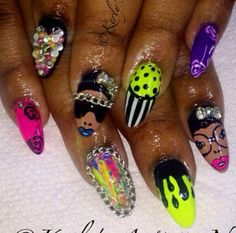 African beat by kerlysnails from nail art gallery pinned by www nailz nail designnailart prinsesfo Images
