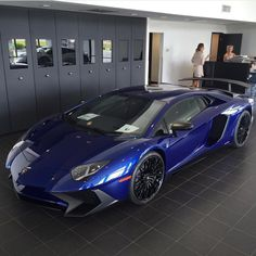 Lamborghini Aventador Super Veloce painted in Blu Fontus  Photo taken by: @cernok_photography on Instagram