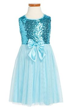 Popatu Sequin & Tulle Sleeveless Party Dress (Toddler Girls, Little Girls & Big Girls) available at #Nordstrom