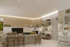 Beautiful and Amazing Interior Design Comes with the Creative Idea: Open Plan Living Room Brilliant Lit Interior Visualizations ~ anahitafurniture.com Interior Design Inspiration
