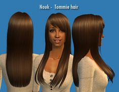 Nouk - Tommie Hair (Reduced version),or lady sims, teen and up!  'Reduced' means that the polycount has been lowered. There is an original, smoother file but the difference is tiny.